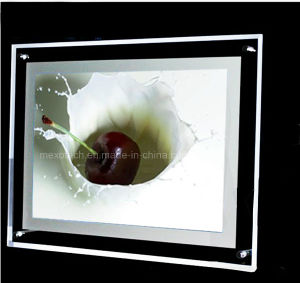 Table-Top Display Super Slim Crystal LED Light Box (CST-A4L-01) pictures & photos
