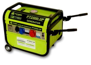 Hot Sale Italian Style Gasoline Generator, CE Generator with Three Phase (PT2500-3P)