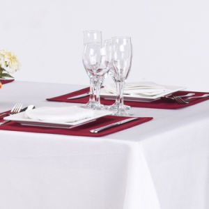 Quality Square Restaurant Napkin Hotel Supplies Customized Cotton Polyester Tablecloth China pictures & photos
