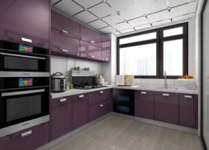 China Foshan Standard MDF Kitchen Hanging Cabinet Design For Home Furniture