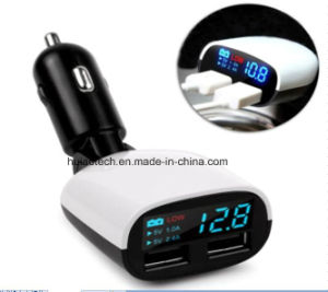 New Top Car Cigarette Lighter Charger with USB Port and LED Display for Voltage Suitable Car GPS Navigation, Car DVR, Phone, Digital Camera, Car Controller pictures & photos