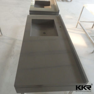 Kingkonree Custom Kitchen Island Solid Surface Kitchen Countertop (180125) pictures & photos