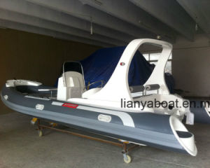 Liya Rib Boat 6.2m Rigid Hull Fiberglass Inflatable Boat pictures & photos
