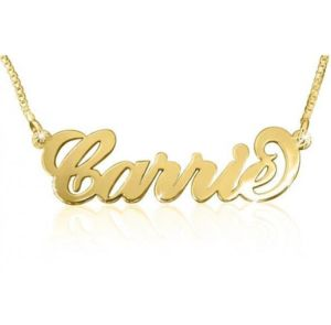109cfe3638b4a Personalized Gold Plated Stainless Steel Name Necklace