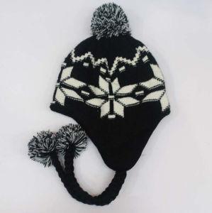 2ef1a5ca5998a7 Kids Children Cute Winter Snow Printing Warm Knitted Beanie Outdoor Earflap  Crochet Caps Head Ear Warmer
