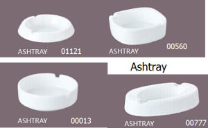 Porcelain Ashtray for Office and Hotel Guest Room (01121) pictures & photos