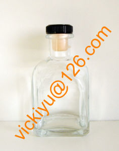 200ml High Quality Square Oil Glass Bottle with Cork Top