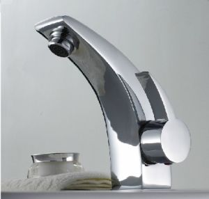 Brass Basin Mixer Chromed Faucet for Wooden Furniture