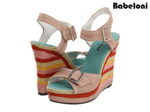bc6ed37c8d63 China 2016 New Fashion Ladies Fancy Flat Thick Heel Sandals and Shoes for Women  Shoes - China Shoes