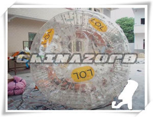 Authentic Quality PVC/TPU Transparent Inflatable Zorb Ball Printed with Label