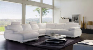 Leather Sectional Sofa (S6309)