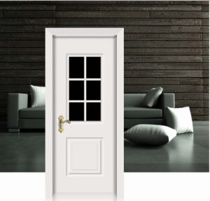 Flower Design White Classic Solid Wooden Door pictures & photos