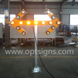 OEM ODM Yellow Powder Coated Arrow Shaped Signals pictures & photos