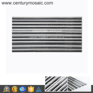 Competitive Price Kitchen Backsplash Crystal Glass Strip Mosaic Tile