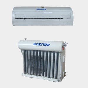 New Design, Luxurious Appearance Hyalocrystalline Panel Wall Mounted Hybrid Solar Air Conditioner Without Batteries