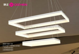 Acrylic Pendant Light, Triple Layer LED Modern Pendant for Hall