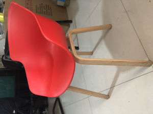 Sensational China Modern Molded Plastic Dining Arm Side Chairs Wood Legs Bralicious Painted Fabric Chair Ideas Braliciousco