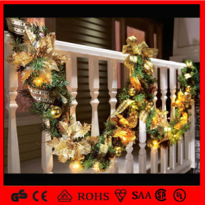 Shopping Mall Holiday Christmas Led Rattan Garland Decoration Light