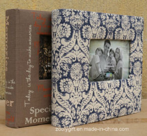 Pattern Design Fabric Photo Albums with Window pictures & photos