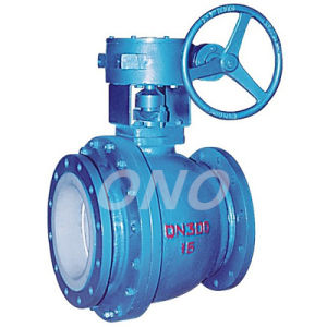 Worm Gear Fluorine Lined Ball Valve pictures & photos