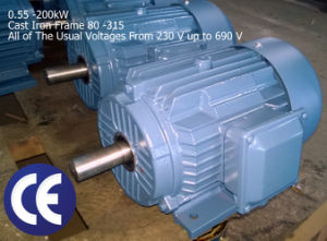 1.5kw/2HP, 1500rpm~4 Pole, 230/400V 3pH Electric Motor