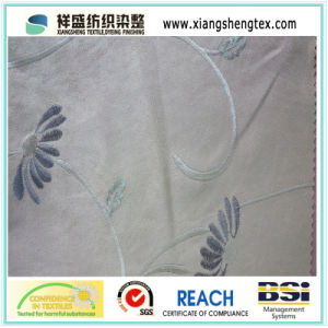 Embroidery Suede Fabric for Cushion Curtain Sofa pictures & photos