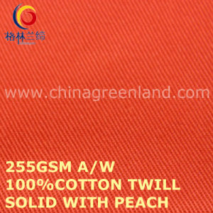 Cotton Solid with Peach Twill Fabric for Clothes Garments Industry (GLLML452) pictures & photos