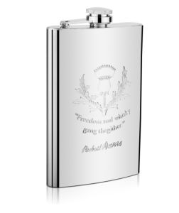 7oz Stainless Steel Hip Flask with Embossed Logo (QL-SH07N)