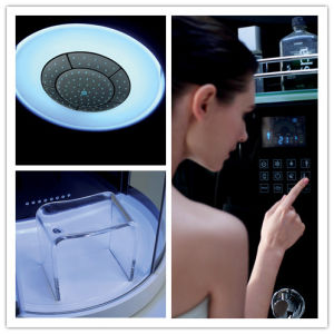 Monalisa Black Round Computerized Shower Room with Steam Sauna (M-8280) pictures & photos
