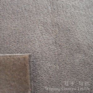 Embossed Leather Polyester Suede Microfiber Fabric for Sofa pictures & photos