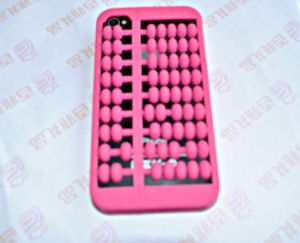 Newest Pink Counting Frame Mobile Silicone Phone Case (BZPC025)