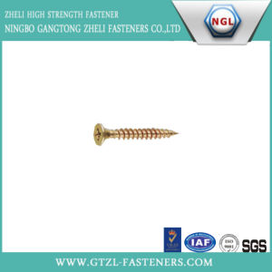 DIN7505 Phillip/Cross Drywall Self Tapping Screw with Zinc Yellow pictures & photos