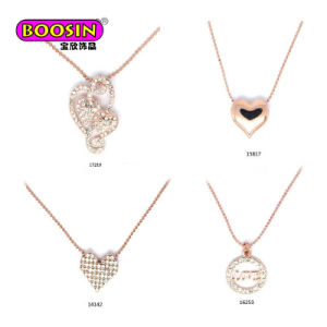 China factory direct sale rose gold heart shape pendant beads factory direct sale rose gold heart shape pendant beads necklace aloadofball Image collections