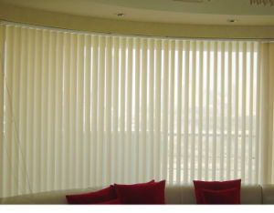 Motorized Blackout Embossed Fabric Vertical Blinds for Office Use pictures & photos