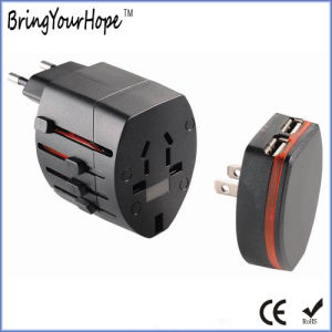 Removeable Dual USB Charger Universal Travel Adapter (XH-UC-040) pictures & photos