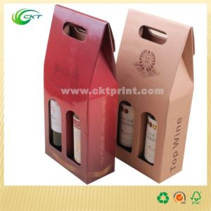 Custom Corrugated Wine Paper Boxes with Film Lamination (CKT-PB-005)