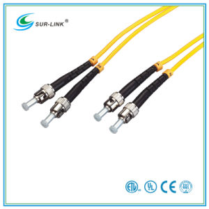 ST/PC-ST/PC Sm 9/125 Duplex 2m Fo Patch Cord pictures & photos