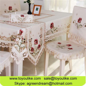 c38ce697ac6 China Handmade Cutwork Embroidered Kitchen Dining Tablecloths Chair ...