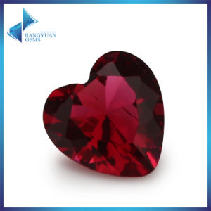 Sythetic Gem Stones DIY Jewellery Beads Cheap Heart Shape Red Glass Beads pictures & photos