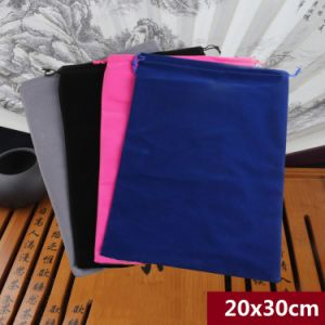 Fashion Drawstring Velvet Pouches Wholesale pictures & photos