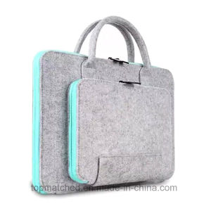Eco-Friendly Wool Felt Material Laptop Bag Tablet Case for MacBook pictures & photos