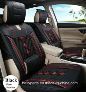 3D Shape Leatherette-Red Car Seat Cushion Use for Four Seasons