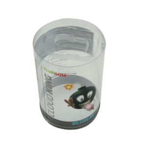 Round Plastic Packaging Containers with Clear Window