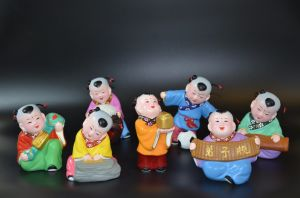 Promoted Set of Chinese Culture Colorful Clay
