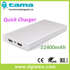QC2.0 Quick Charger 11400mAh Portable Powerbank and Aluminium Alloy Case