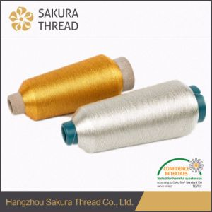 150d Pure Gold and Pure Silver Metallic Embroidery Yarn pictures & photos