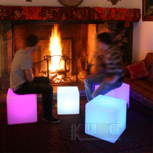 "12"" LED Bar Chair Cube Shape Glowing Stool pictures & photos"