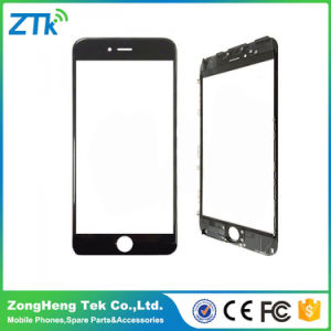 Black Front Screen Glass with Frame for iPhone 6 Plus