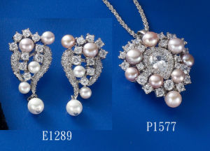 CZ with Pearl Jewelry Sets pictures & photos