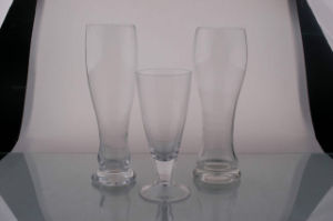 Handmade Beer Glass Cup. Clear Glassware